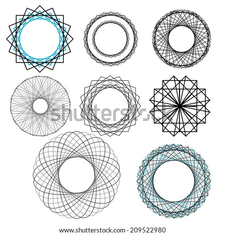 Vector repeating geometric decorative elements - stock vector