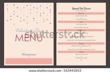 letter size brochure template - vector restaurant brochure menu design template stock