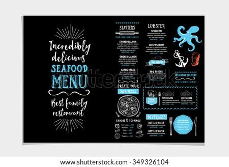 Chalkboard Menu Images RoyaltyFree Images Vectors – Sample Restaurant Brochure