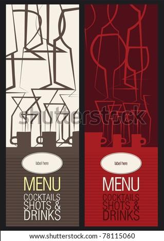 Vector. Restaurant, cafe or bar, menu design - stock vector