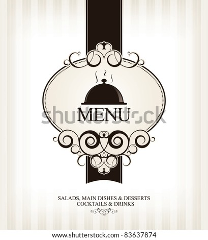 Vector. Restaurant menu design - stock vector