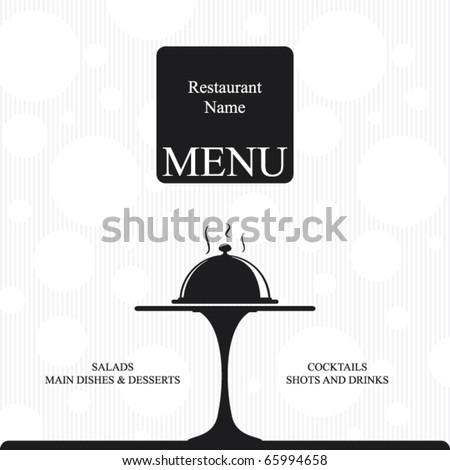 Vector. Restaurant menu design. Two colors - stock vector