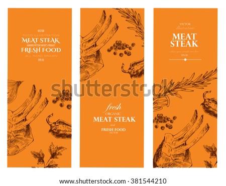 vector restaurant menu designer banner template stock vector