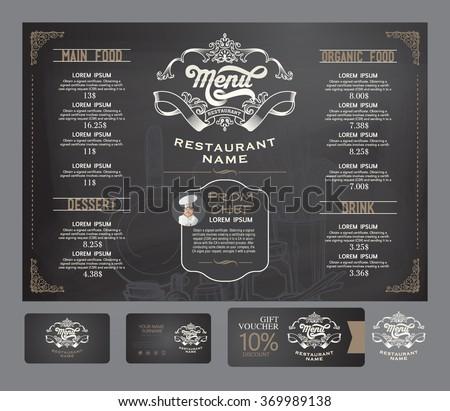 vector restaurant menu template. - stock vector