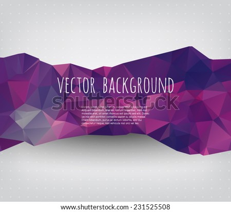 Vector retro background with geometric / triangles shapes. Hipster style design