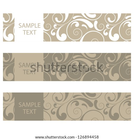 Vector retro banners with ornaments - stock vector