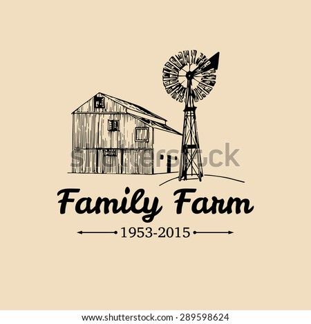 Vector retro farm fresh logotype. Vintage farm logo. Organic farm logo. Farm sign - stock vector