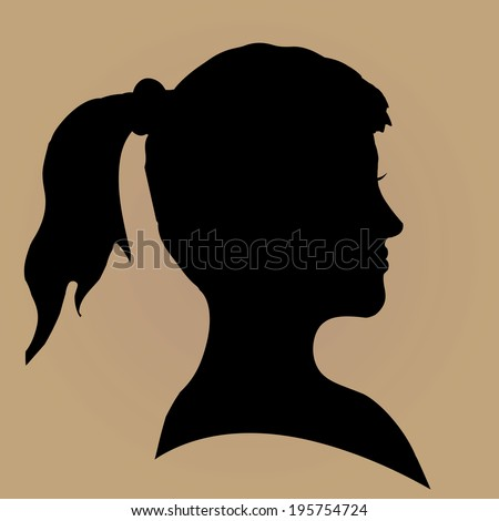 Vector retro frame brown color with woman.