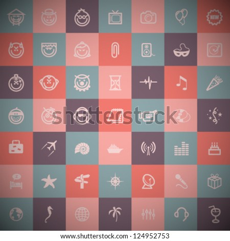 Vector Retro Icons Set