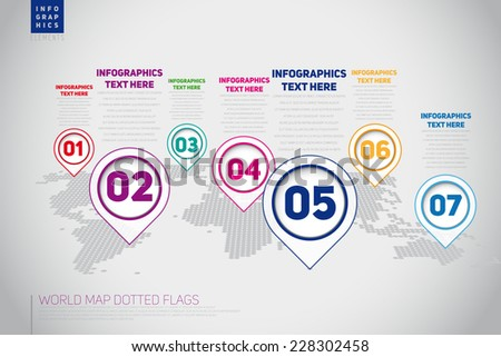 Vector retro Infographic Timeline Template with pointers, can be use for web design, web elements, infographics, banners, advertising, applications, EPS10 Vector Illustration - stock vector