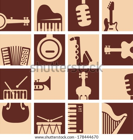 vector retro music design - Separate layers for easy editing - stock vector