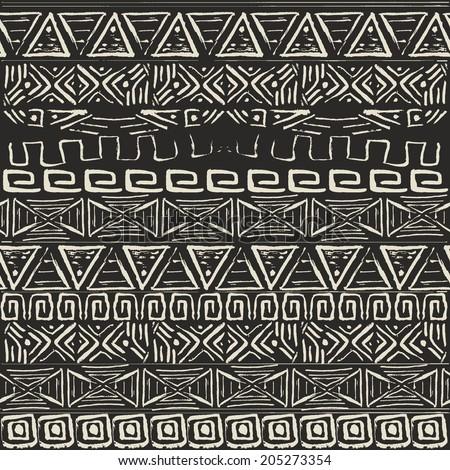 Vector retro pattern. Aztec background. - stock vector
