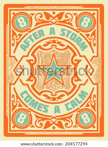 Vector. Retro stamp design with engraving and floral details. Organized by layers. - stock vector