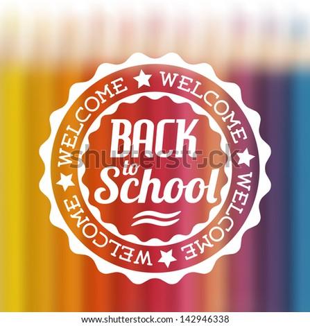 vector retro style back to school illustration - stock vector