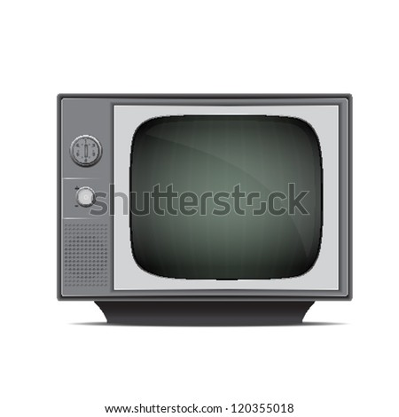 vector retro tv
