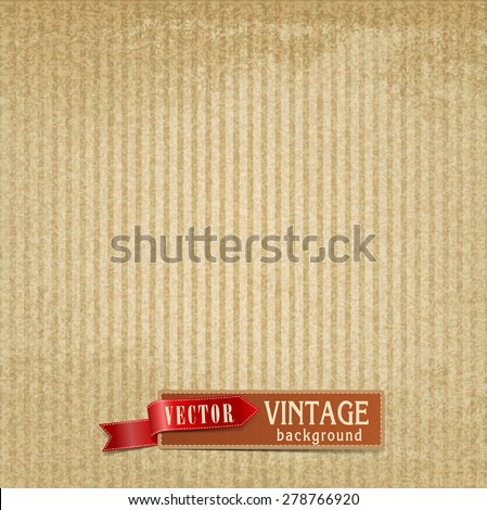 Vector retro vintage background with stripes - stock vector