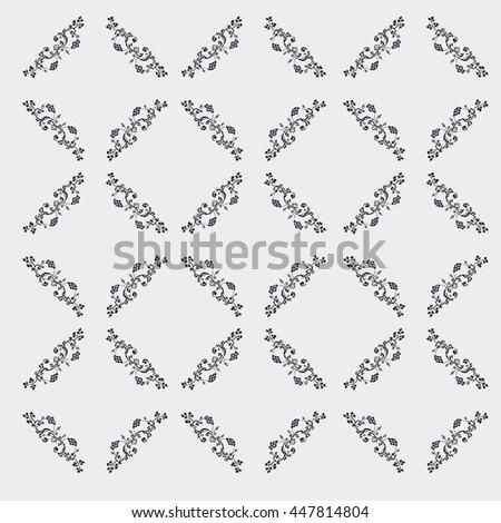 Vector Retro Wall paper Background - stock vector