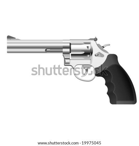 Vector revolver - stock vector