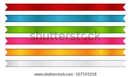 Vector ribbon collection - stock vector