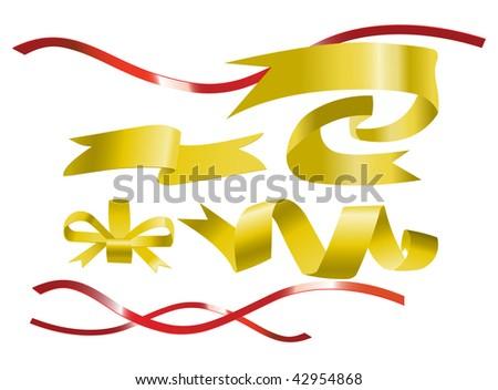 Vector ribbons - stock vector