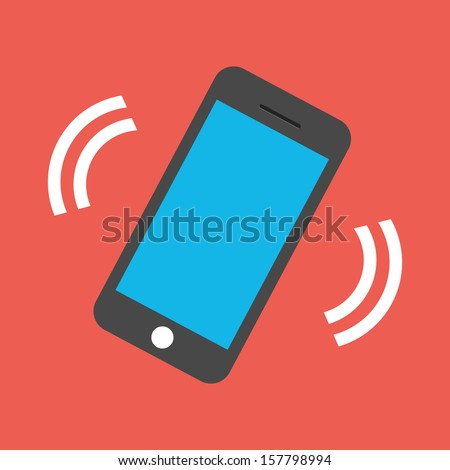 Vector Ringing Phone Icon - stock vector