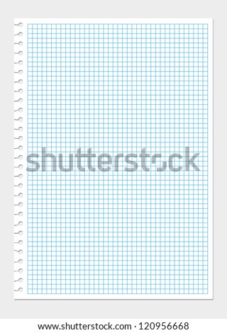 Vector ripped blank squared notepad page - stock vector