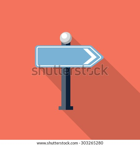 Vector road sign icon - stock vector
