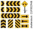 Vector Road Sign Set  - stock vector