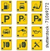 Vector roadside services signs icon set. Part 2 - stock vector