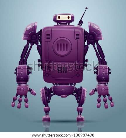 vector robot 3 - stock vector