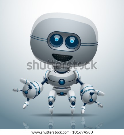vector robot 6 - stock vector