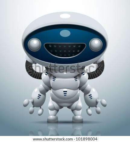 vector robot 10 - stock vector