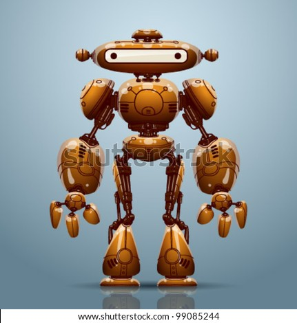 vector robot - stock vector