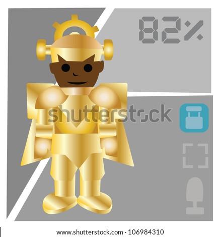 Vector - Robot and power graph. - stock vector