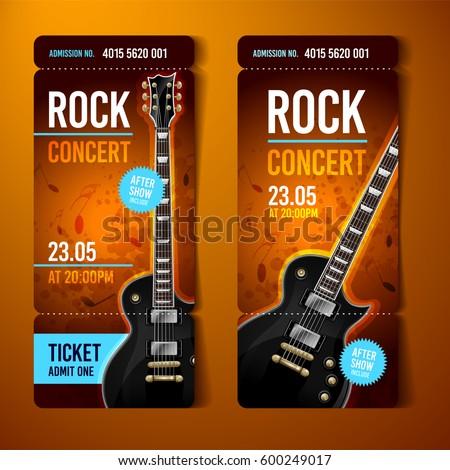 Concert Ticket Images RoyaltyFree Images Vectors – Ticket Design Template