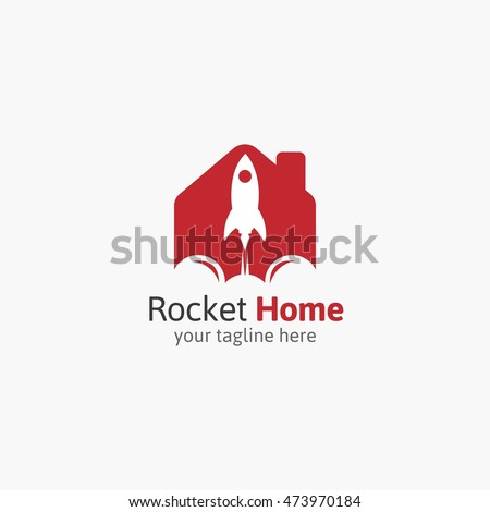 Vector rocket compass design logo elements stock vector for Innovative home designs and marketing
