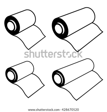 vector roll of any foil black symbols - stock vector