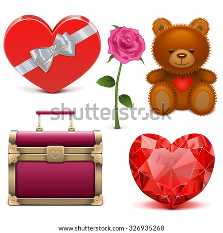 Vector Romantic Icons