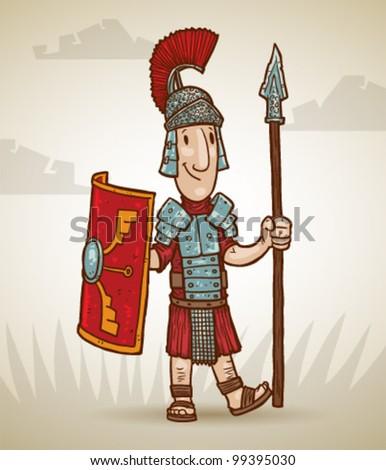 vector Rome warrior 3 - stock vector