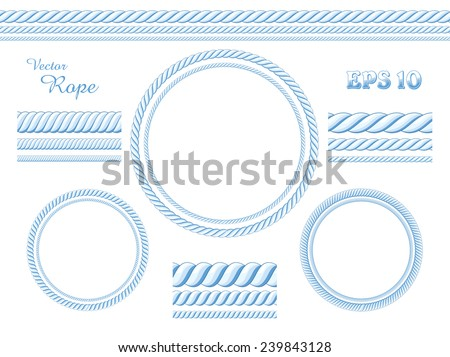 Vector rope template - stock vector