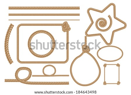 Vector Rope , vector illustrations set. - stock vector