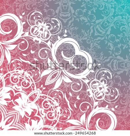 Vector Rosettes pattern, Decorative Elements - stock vector