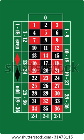 Vector roulette table - stock vector