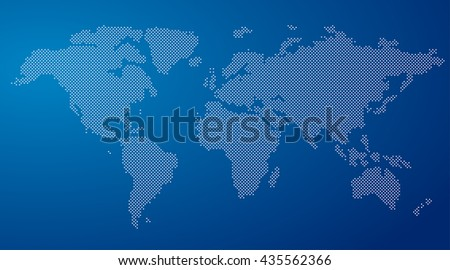 Vector round dotted world map on stock photo photo vector vector round dotted world map on a blue background gumiabroncs Choice Image