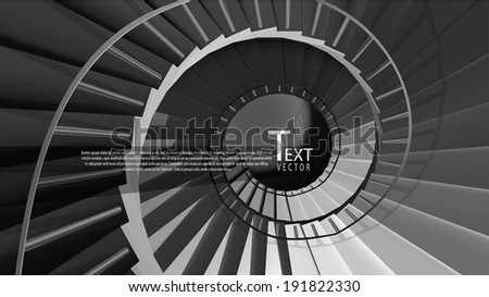 Vector round stairs - stock vector