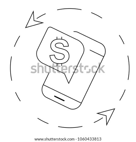Vector Round Symbol Currency Dollar Sign Stock Vector 1060433813