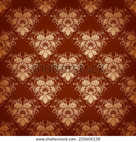 Vector royal seamless background. Filigree pattern of floral elements. Design element.
