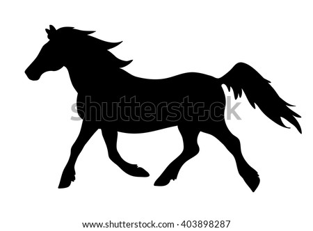 Running Horse Silhouette Stock Images, Royalty-Free Images ... - photo#19