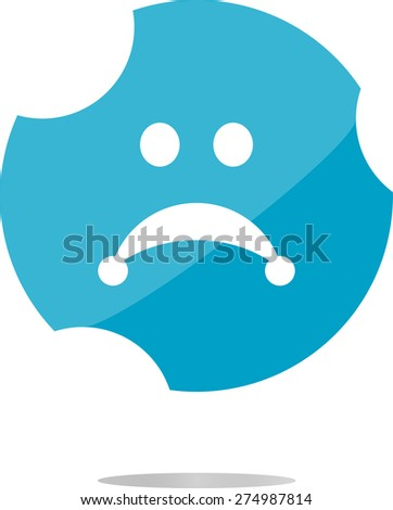 vector Sad icon (button) isolated on white background - stock vector