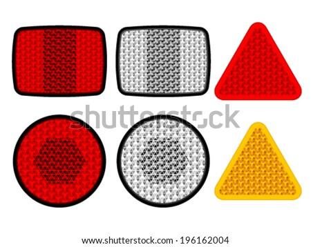 Vector Safety Reflectors Red White Orange